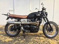 Much loved 2009 Triumph Scrambler 900 with many custom features.