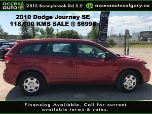 2010 Dodge Journey SE- Low Kms Drives Great!! Only $6,995