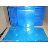 LOT OF 25 BLU-RAY CASE 2-DISC DOUBLE 12mm STANDARD SIZE + CLEAR LOGO ✔☆NEW☆✔ DVD