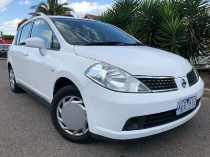 2009 Nissan Tiida C11 MY07 ST White 4 Speed Automatic Hatchback Hoppers Crossing Wyndham Area Preview