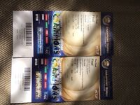 Two tickets to the final of the champions Trophy at the Oval. Sunday the 18th June