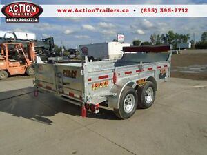 HOT DIPPED GALVANIZED 6X12 DUMP TRAILER - CANADIAN MADE!