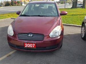 2007 HYUNDAI ACCENT SEDAN 4 DOOR AUTO ONLY 137000KMS