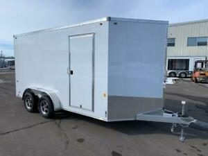 NEW 2019 ALPHA 7' x 14' ALUMINUM ENCLOSED TRAILER