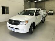 2007 Toyota Hilux TGN16R MY07 Workmate 4x2 White 5 Speed Manual Cab Chassis Coburg North Moreland Area Preview