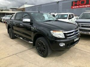 2012 Ford Ranger PX XLT Double Cab Black 6 Speed Sports Automatic Utility Granville Parramatta Area Preview