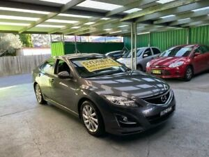 2011 Mazda 6 GH1052 MY10 Classic Grey 5 Speed Sports Automatic Hatchback Croydon Burwood Area Preview