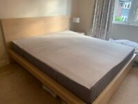 Super king bed and mattress for sale