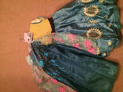 Disney Store Princesses Set of Anna & Elsa Frozen Costumes (2 Dresses) 7/8 - NWT