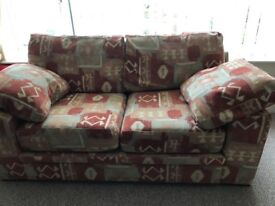 Three seater settee plus Two seater settee & footstool.