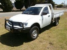 2009 Mitsubishi Triton ML MY09 GLX White 5 Speed Manual Cab Chassis Meningie The Coorong Area Preview