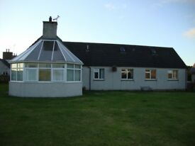 Four bedroom bungalow with integral garage on the North Coast 500