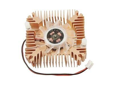 2 Pin 6cm 60mm Square Copper Tone Video Graphics VGA Cooler Cooling Fan Heatsink