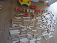 Huge lot of wooden train track over 100items