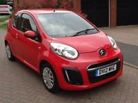2012 Citroen C1 1.0i 68 2012MY VTR 3dr Red Petrol Maunal Only 75k Miles