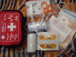 Erste Hilfe Set für die Reise - 32 Teile mit Tasche - Wundmed Travel Set - Neu