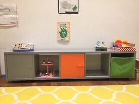 Long and narrow A-space Tessera cube storage unit, perfect for toy or box storage