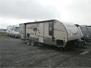 2016 FOREST RIVER GREY WOLF LIMITED 23DBH! BUNKS, SLIDE! $23495!