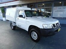 2011 Nissan Patrol GU MY08 DX (4x4) White 5 Speed Manual Cab Chassis Hamilton Newcastle Area Preview