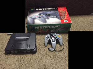Nintendo 64 in Box with a controller