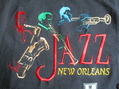 NEW ORLEANS JAZZ Festival Embroidered (MED) T-Shirt