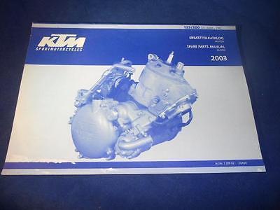 KTM Spare Parts Manual 2003 KTM 125 200 SX MXC EXC