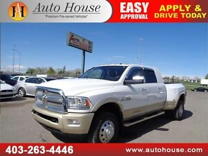 2014 Ram 3500 Longhorn Laramie MegaCab 4X4 Dually Leather Sunroo