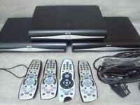 3 x Sky+ boxes, plus leads and 4 x Remote controls, Magic Eye - SKY Q just fitted