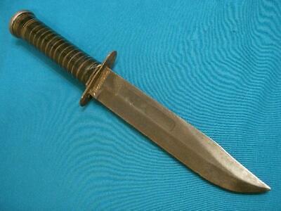 VINTAGE WW2CAMILLUS TRENCH ART MK2 USMC MARINE CORPS COMBAT FIGHTING BOWIE KNIFE