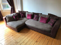 DFS Corner Sofa, 2-seat couch and footrest - quick sale