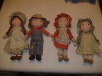 Holly Hobbie dolls/Heather, Robbie, Carrie, Amy