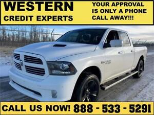 2014 Ram 1500 Sport 4x4 LOADED~Leather~Sunroof~Nav. $257 B/W