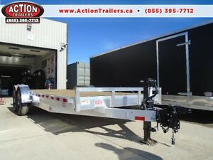 7 TON ALUMINUM H&H EQUIPMENT TRAILER 7X20' (BUILT TO LAST)