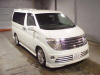 2004 NISSAN ELGRAND E51 AUTECH RIDER S WITH BODY STYLING 8 SEATER * LOW MILES *