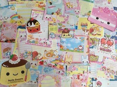 LOT Kawaii Stationery / Memo Paper Sheets Assortment VINTAGE DESIGNS Crux - Kawaii Stationery