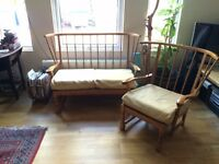 Ercol Style Love Seat and Chair