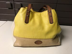 Fossil leather bag-yellow/tan