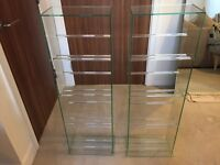 Two Glass Book Cases / DVD stands (from John Lewis)