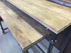 Bosco WOOD AND METAL Console Tables Brand NEW