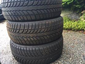 Winter tyres hardly used - size 205/55/R16 - 3 x Kleber Quadraxer, 1 x Hankook Winter Icept Evo