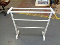 White Painted Towel Rail