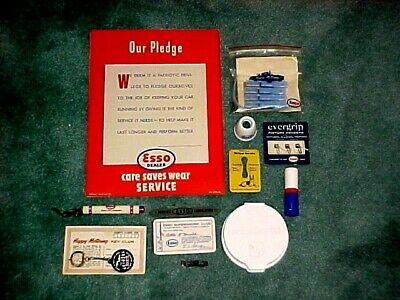 Esso Lot of 11 Misc Esso Items Vintage - Poster dated 1942 Premiums Promotional