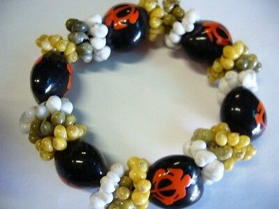 Hawaii Wedding / Graduation Kukui Nut Luau Hula Jewelry Bracelet ~#24135 (QTY 2)