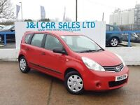 NISSAN NOTE 1.6 VISIA 5d AUTO 110 BHP A SMALL 5DR AUTO (red) 2010