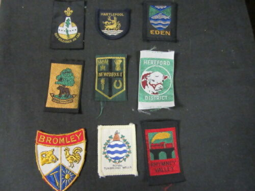 England United Kingdom Lot of 9 Boy Scout Patches      cjprw