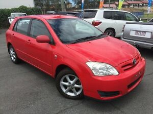2007 Toyota Corolla ZZE122R MY06 Upgrade Ascent Sport Seca Red 4 Speed Automatic Hatchback Southport Gold Coast City Preview