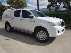 2013 Toyota Hilux KUN26R MY12 SR (4x4) White 4 Speed Automatic Dual Cab Pick-up Moorebank Liverpool Area Preview