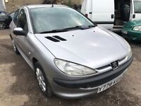 2001 Peugeot 206 automatic, starts and drives well, MOT until 26th June, 57,000 miles, does export,