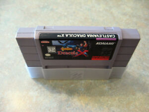 SNES Castlevania dracula x authentique