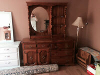 Pine Dresser with hutch from a clean non smoking home.
